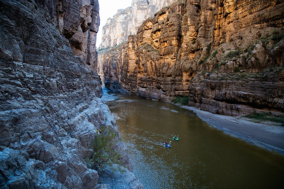 Paddling in Big Bend. Photo: Peter Holcombe